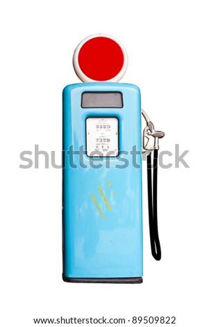 Retro gas pump - stock photo