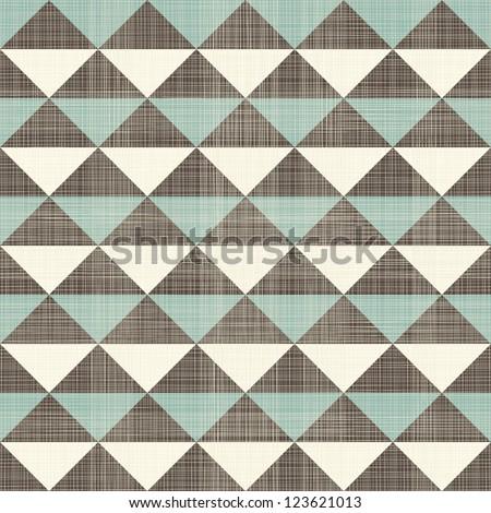 retro geometric seamless pattern - stock photo