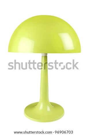 Retro green lamp on white background with clipping path - stock photo