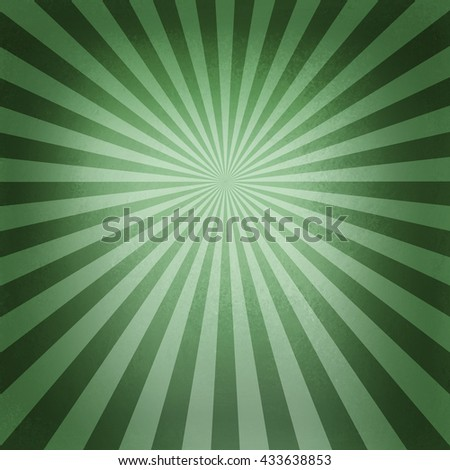 retro green starburst pattern, old abstract background design, radial lines with bright center and dark border - stock photo