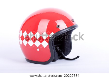 Retro helmet - stock photo