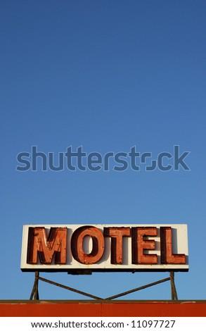 Retro Hotel Sign - stock photo