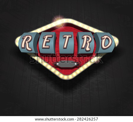 retro icon - signboard - stock photo