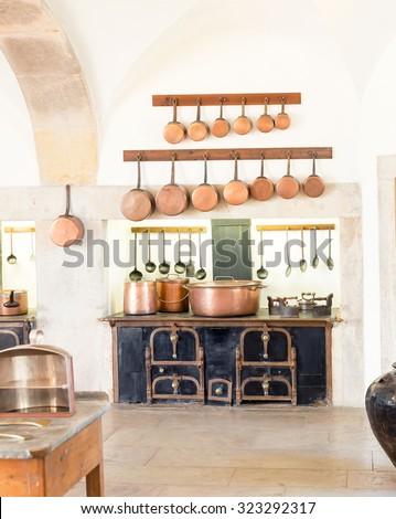 Retro kitchen  - stock photo