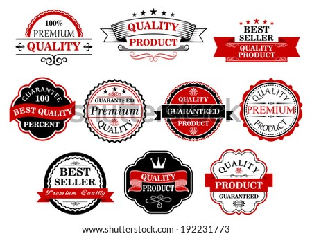 Retro labels and banners set for retail business. Vector version also available in gallery - stock photo