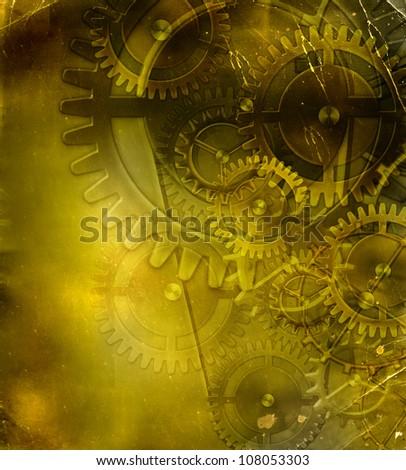 retro mechanism - stock photo
