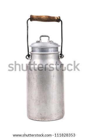 retro milk can - stock photo