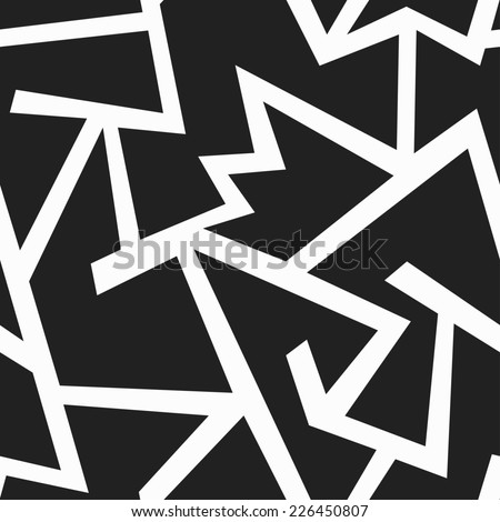 retro monochrome geometric seamless pattern (raster version) - stock photo