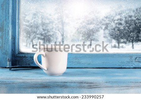 retro mug  - stock photo