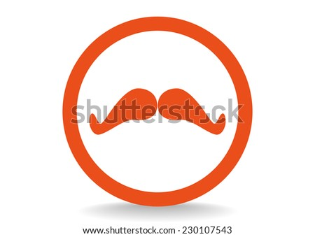 retro mustache web icon.  - stock photo