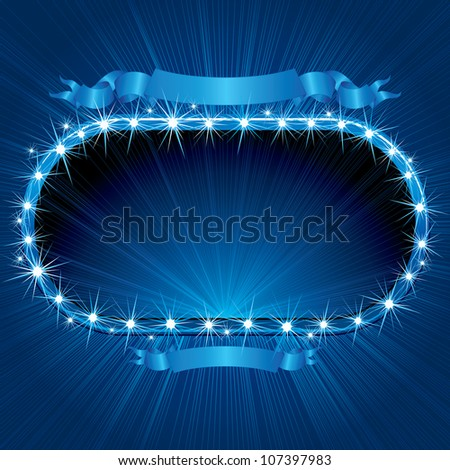 Retro Neon Sign. Image Ready for your Text or Design - stock photo