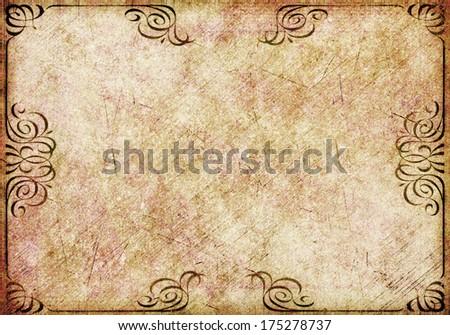 retro old vintage paper background texture  - stock photo