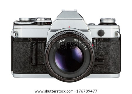 retro photo camera - stock photo