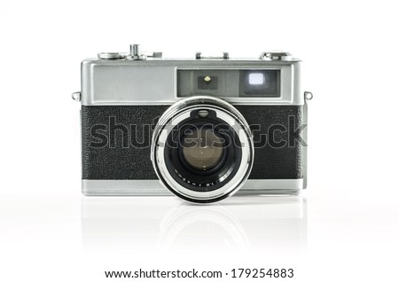 Retro photo camera isolated on white :Clipping path included - stock photo