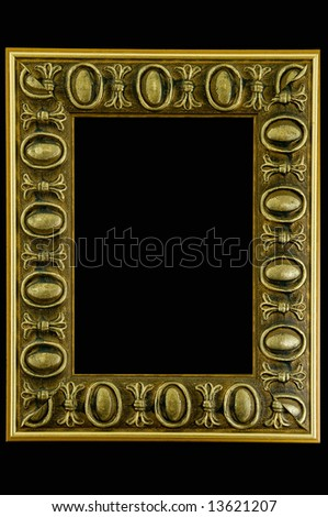 Retro photo frame - isolated on black background - stock photo