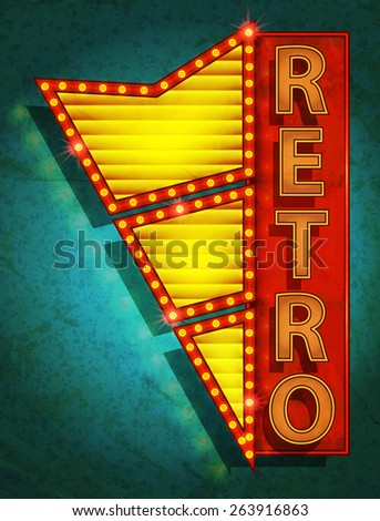 retro poster - outdoor signboard - stock photo