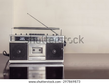 Retro Radio Cassette - stock photo