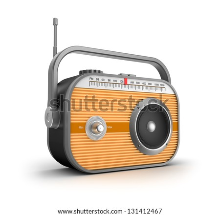 Retro radio concept. - stock photo
