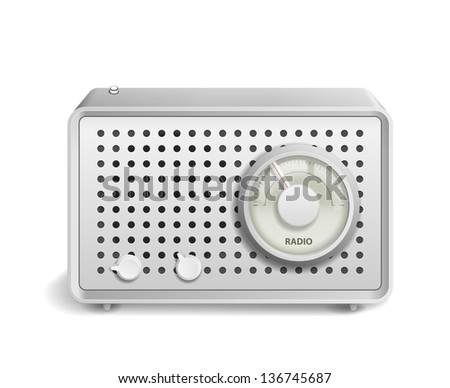 Retro Radio icon isolated on white background. See also vector version - stock photo