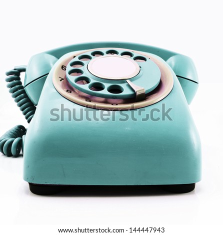 retro red phone - stock photo