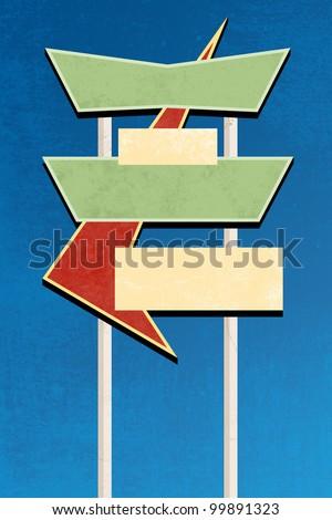 Retro sign design - stock photo