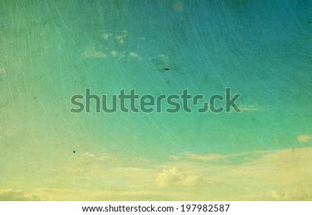Retro sky - stock photo
