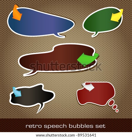 retro speech bubbles set. - stock photo