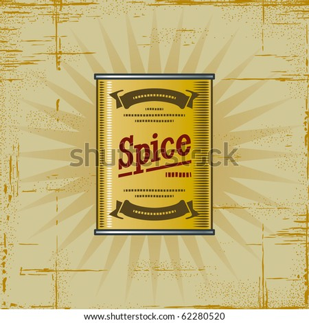 Retro Spice Can - stock photo