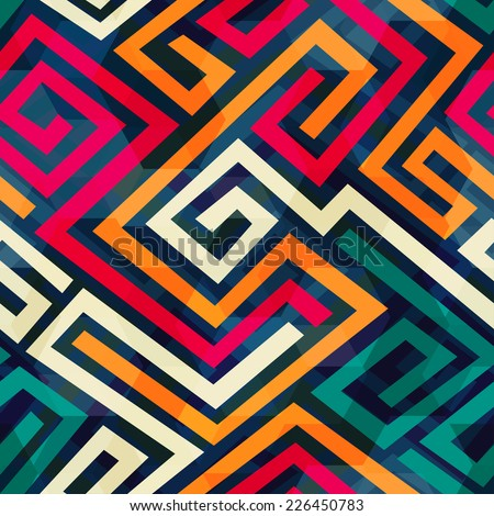 retro spiral seamless pattern (raster version) - stock photo