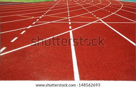retro sport running track  - stock photo
