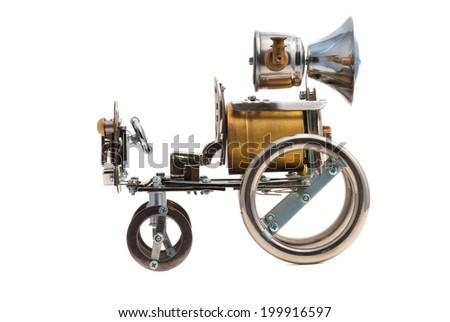 Retro steampunk car.  - stock photo