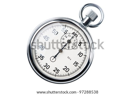 retro stopwatch isolated on a white background - stock photo