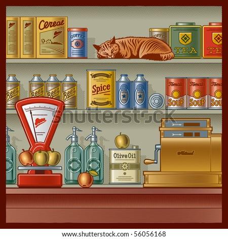Retro store - stock photo