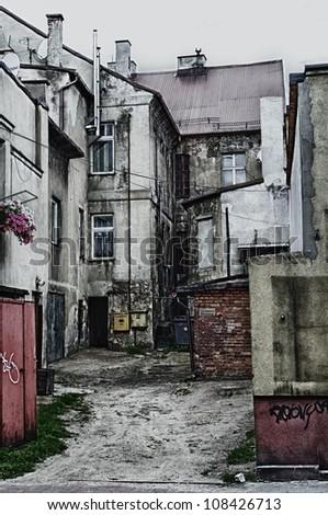 Retro street - stock photo