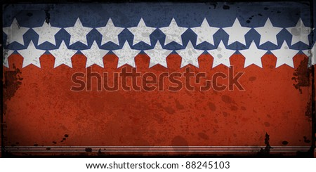 Retro style framed  background with space for your text , stars and stripes. - stock photo