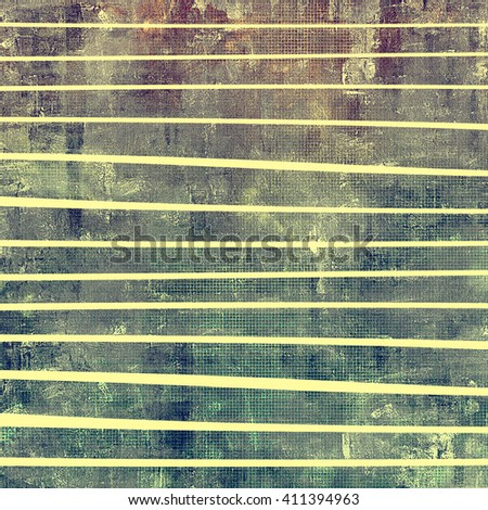 Retro style graphic composition on textured grunge background. With different color patterns: yellow (beige); brown; green; blue; gray - stock photo
