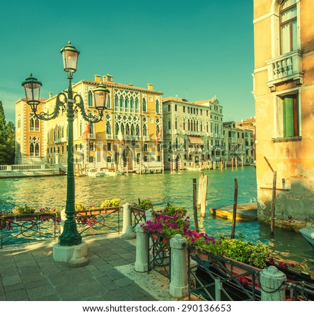 Retro style image of Grand Canal, Venice, Italy - stock photo
