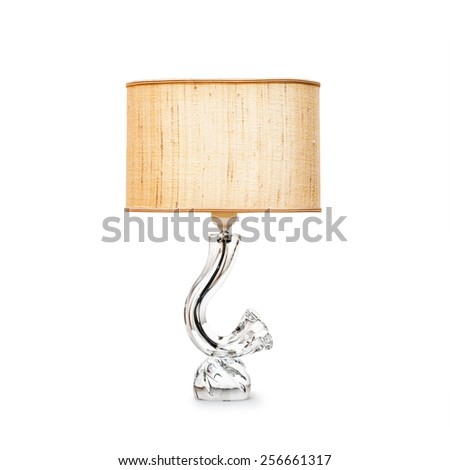 Retro table lamp isolated on white background. Object with clipping path - stock photo