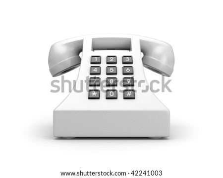 Retro telephone, more phones in my gallery - stock photo