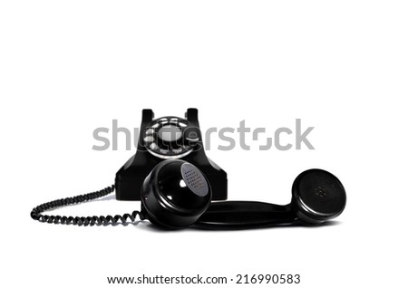 Retro Telephone Receiver - stock photo