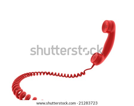 Retro telephone receiver. 3D generated image - stock photo