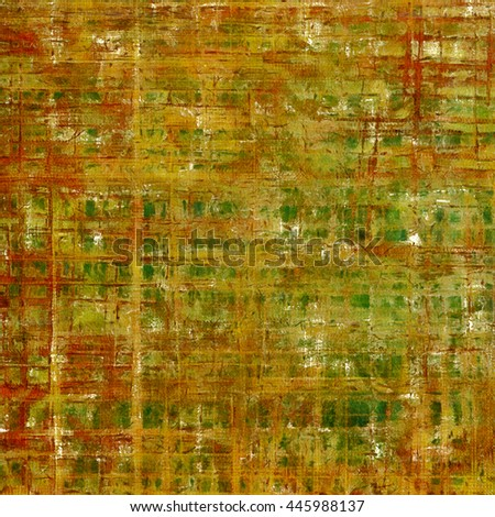 Retro texture, shabby and ragged background in grunge style. With different color patterns: yellow (beige); brown; gray; green; red (orange) - stock photo