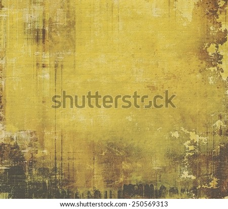 Retro texture. With different color patterns: yellow (beige); brown; black - stock photo