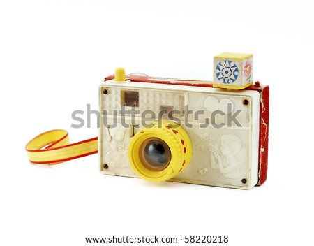 Retro toy camera - stock photo