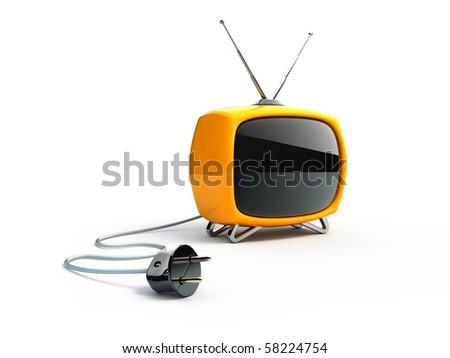 Retro TV - stock photo