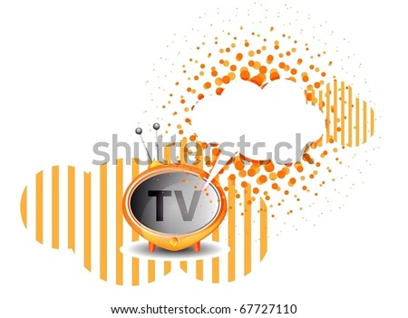 Retro TV background. Raster version - stock photo