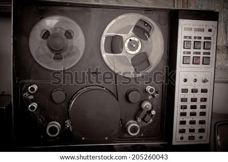 retro videorecorder - stock photo