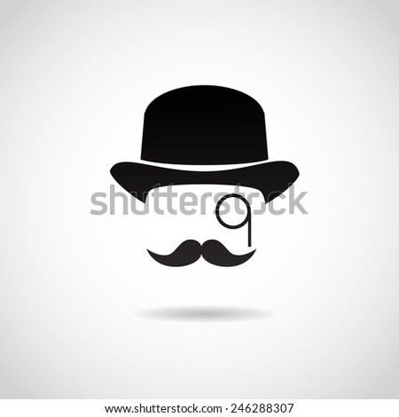 Retro, vintage gentleman.  - stock photo