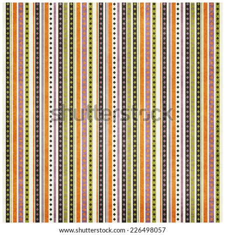 retro vintage grunge paper texture with vertical stripes - geometric pattern - stock photo