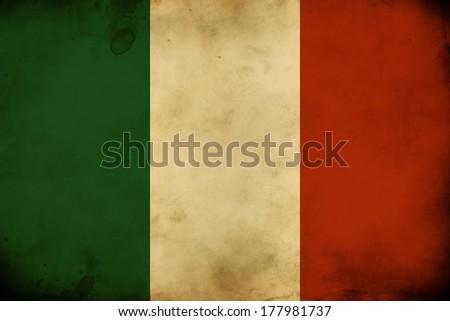 Retro vintage national flag of Italy  - bandiera d'Italia - stock photo